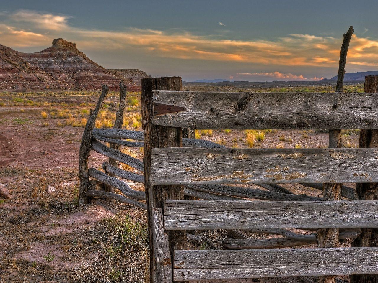 Corral at Uranium Badlands by Gary Orona