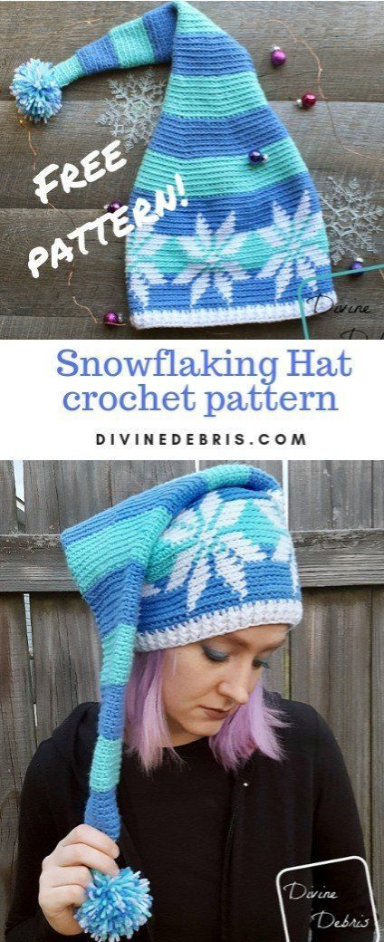 Snowflake Stocking Hat Free Crochet Pattern By Divinedebris