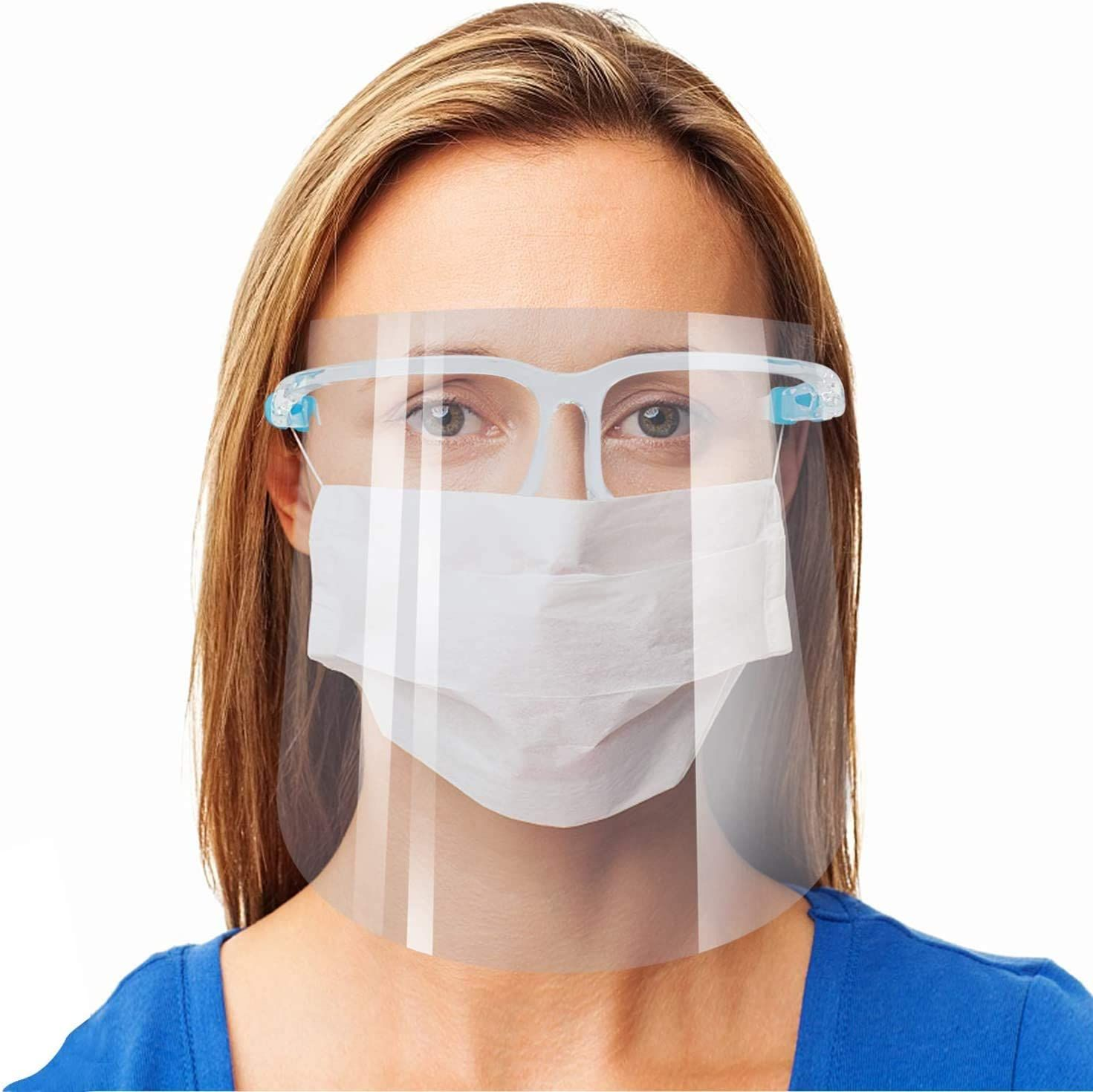 safety glasses with face mask