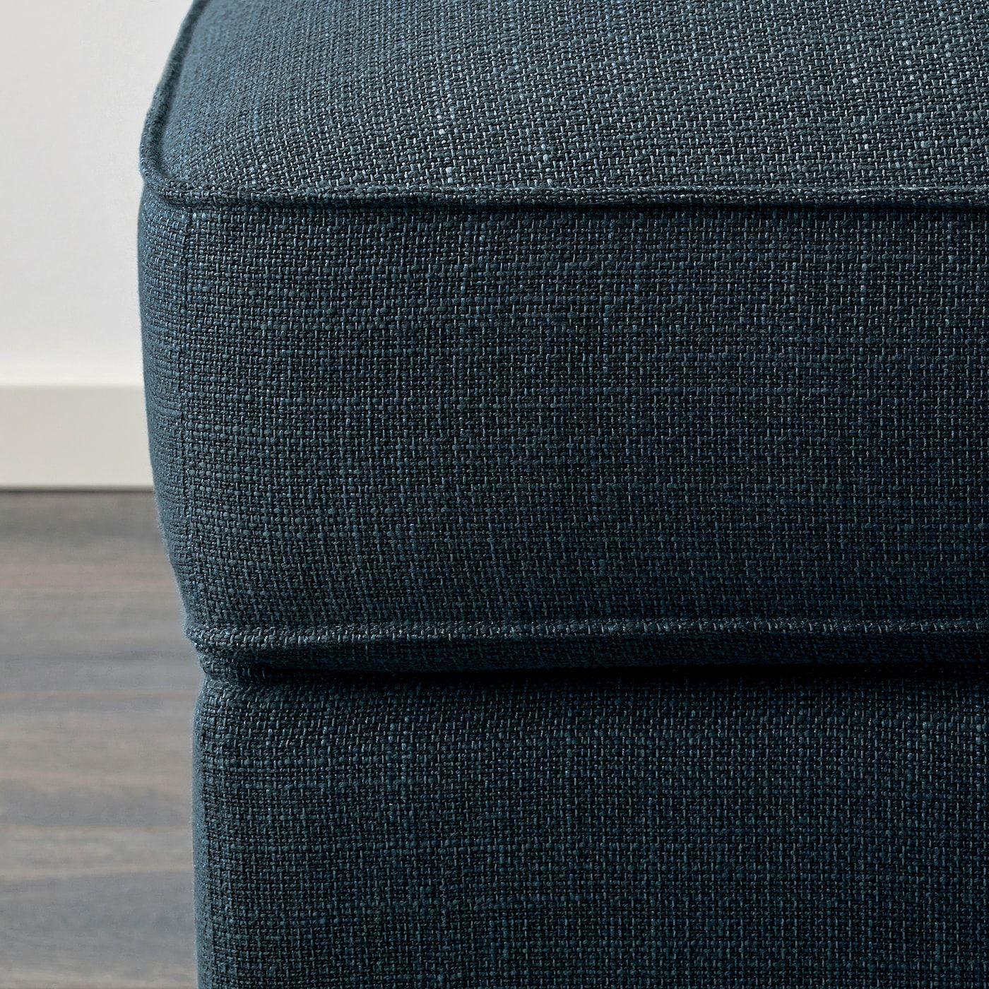 Ikea Kivik Hillared Dark Blue Ottoman With Storage Storage