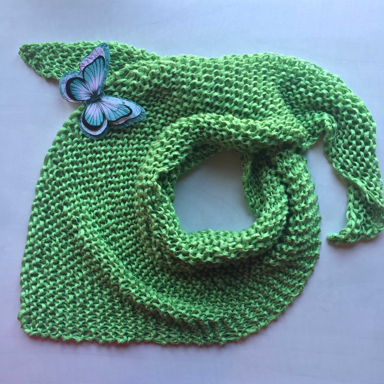 Patrón de pañuelo primaveral ( Verde que te quiero verde ...