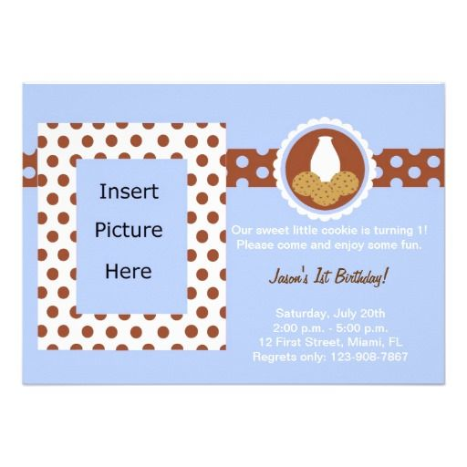 Our Sweet Little Cookie Birthday Invitation