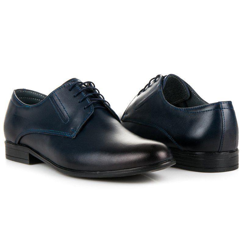 Polbuty Meskie Lucca Niebieskie Eleganckie Granatowe Polbuty Lucca Dress Shoes Men Oxford Shoes Dress Shoes