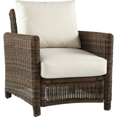 South Sea Rattan Del Ray Deep Seating Chair with Cushion ...