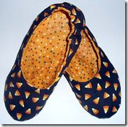 Slippers made from fabric fat quarters