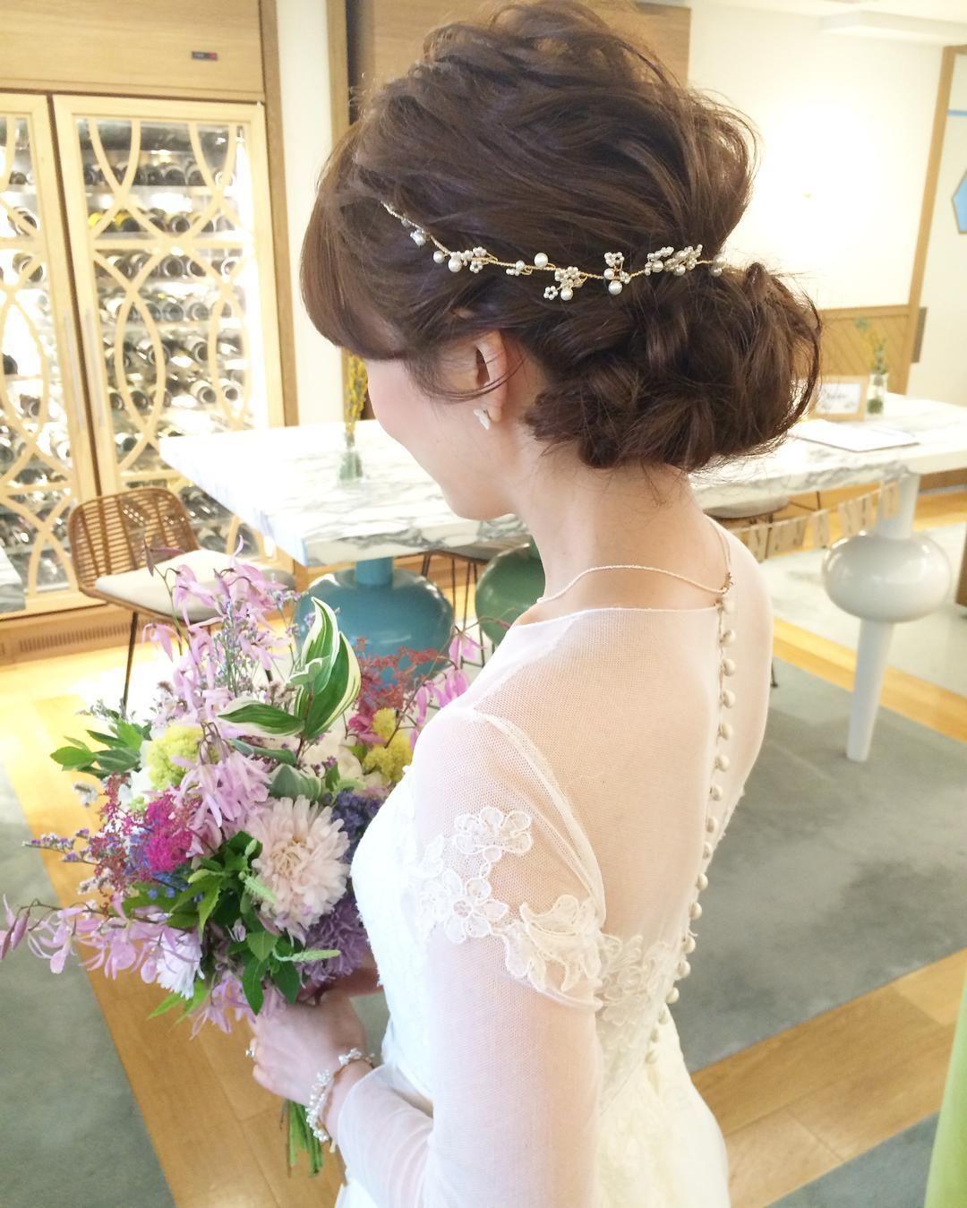 花嫁ヘアのベースとなる定番ブライダルヘアのアレンジまとめ Marry