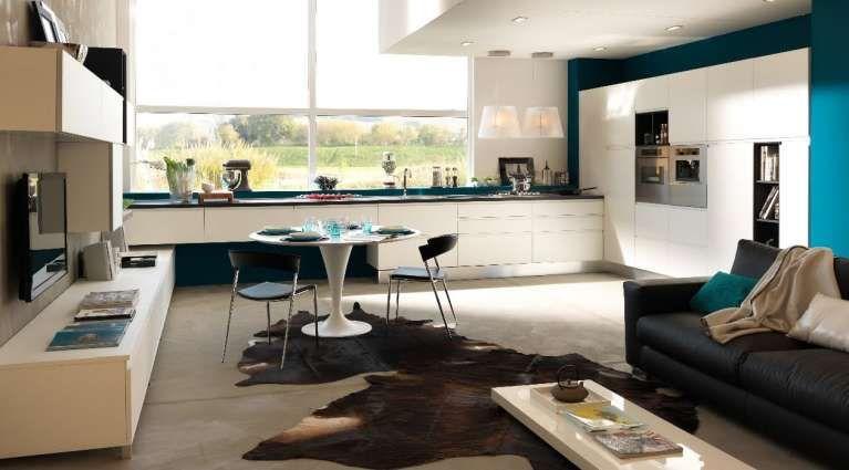 Cucina e soggiorno open space - Ambiente multifunzionale