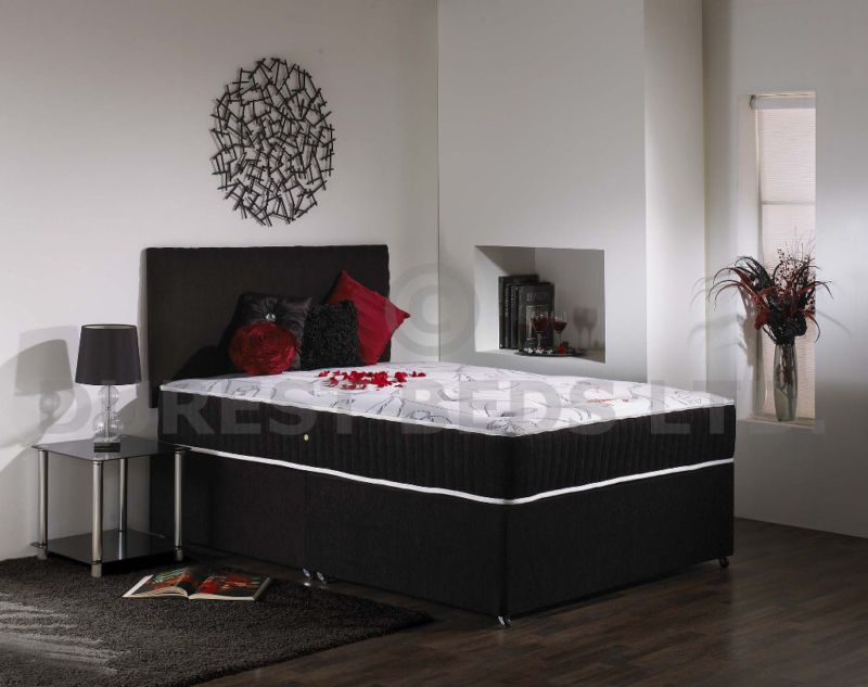 4ft6 Double Divan Bed Ortho Luxury Mattress 2
