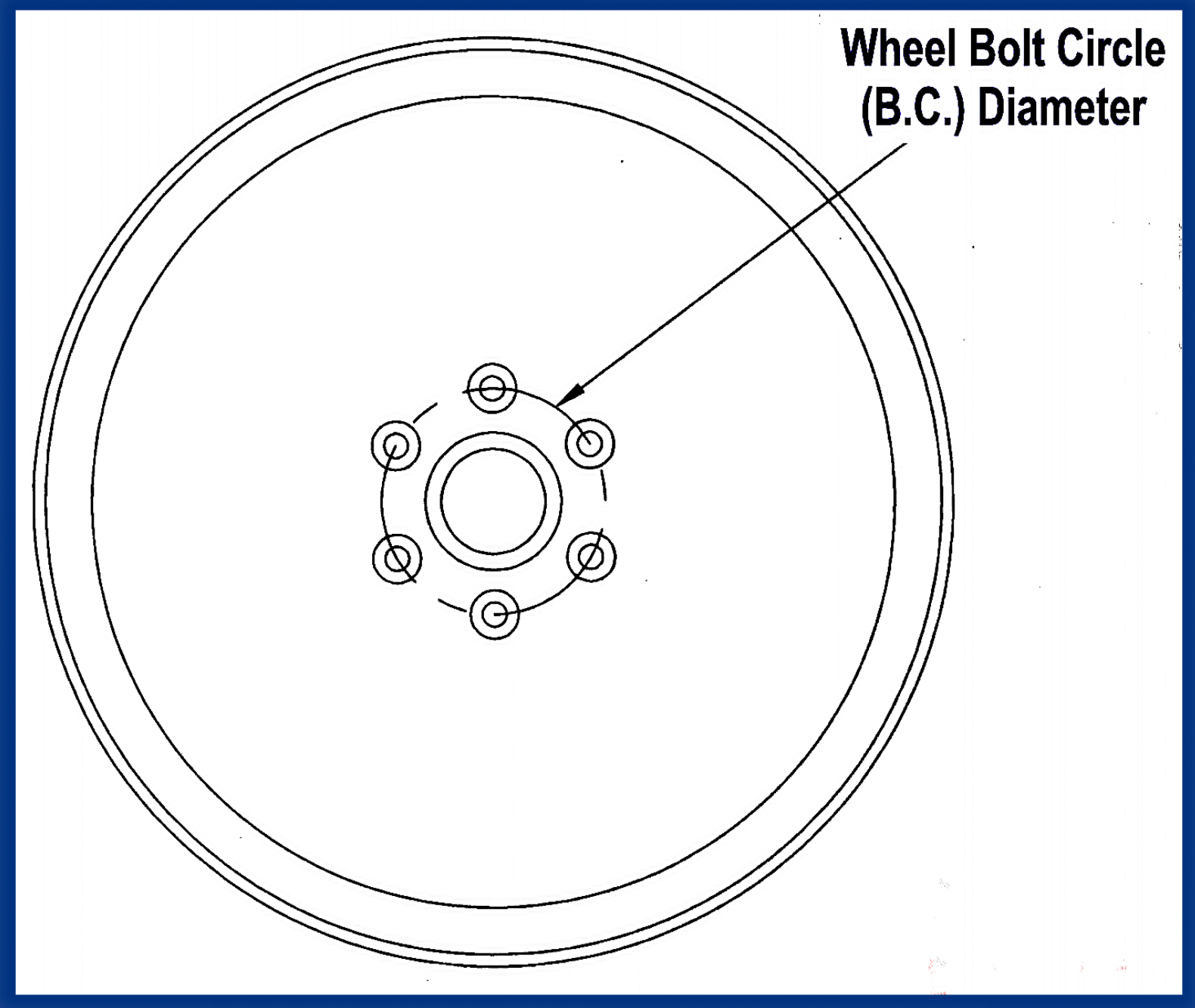 hight resolution of wheel bolt circle diameter drawing
