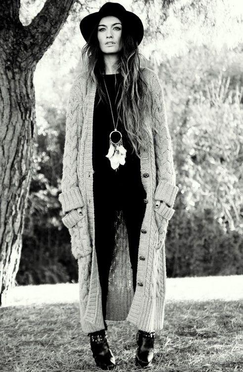 Long Cardigan Vintage Inspired Boho Style So Comfy Style Boho Fashion Fashion