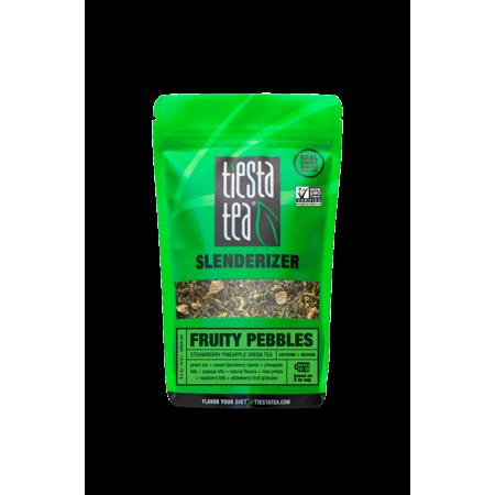 Photo of Tiesta Tea Fruity Pebbles, Strawberry Pineapple Green Tea, 30 Servings, 1.6 Ounce Pouch, Medium Caffeine, Loose Leaf Green Tea Slenderizer Blend – Walmart.com