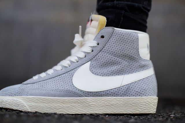 nike blazer grey suede mid trainers hate