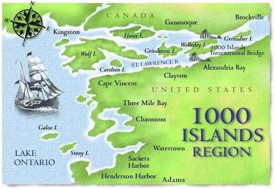 1000 Islands Map Canada 1000 Islands Region | Alexandria bay, Island lake, Saint lawrence