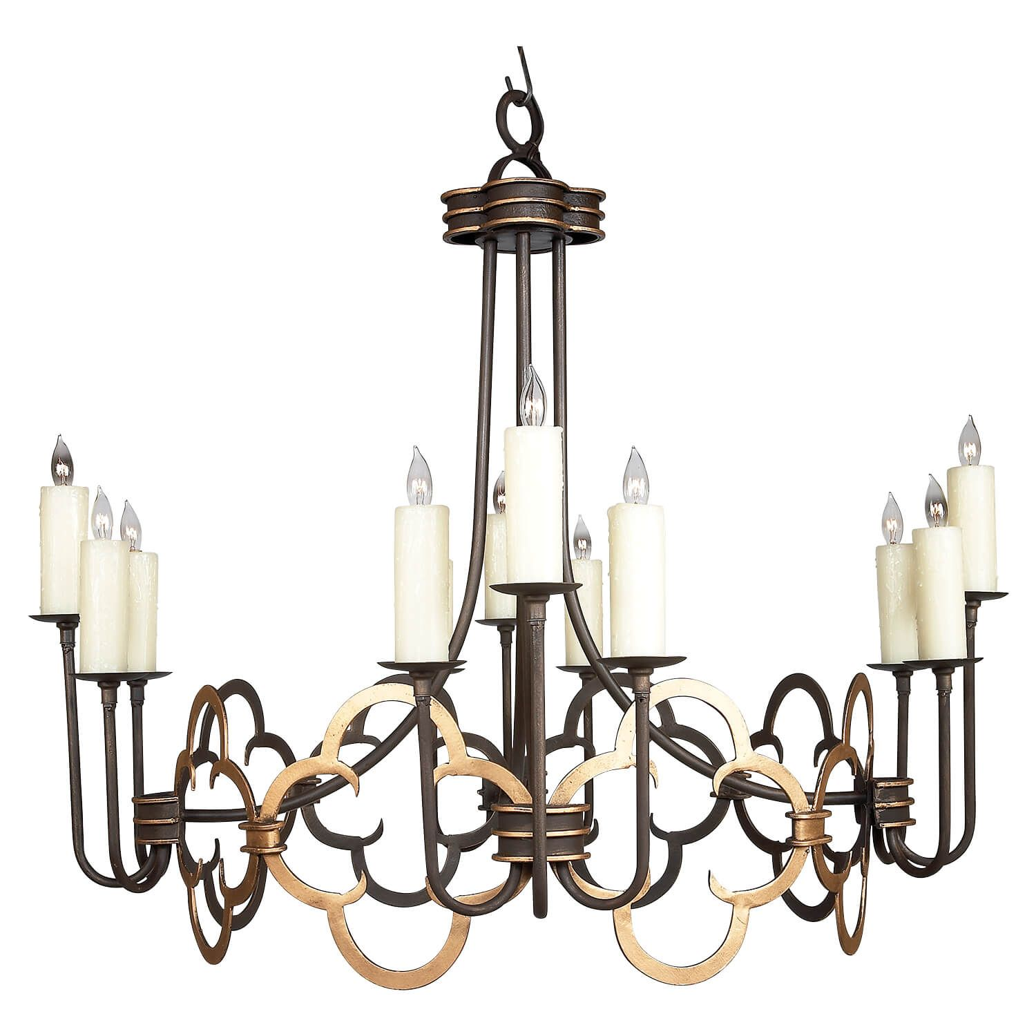 12 Light Fancy Nancy Iron Chandeliers Modern Chandelier