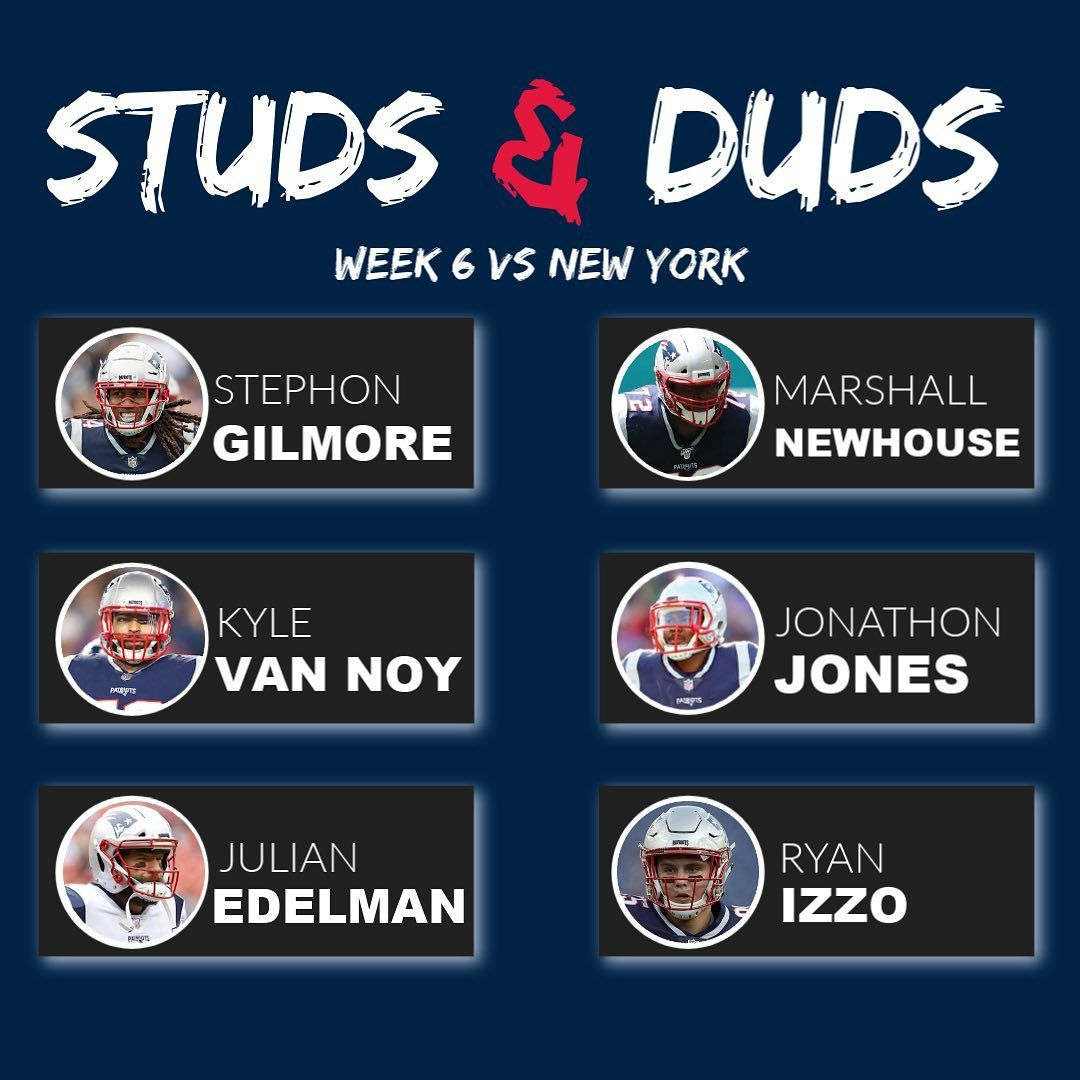 Here Is This Weeks Edition Of Studs And Duds With Patriotsredzone Stud Studs Gilmore Calhoun
