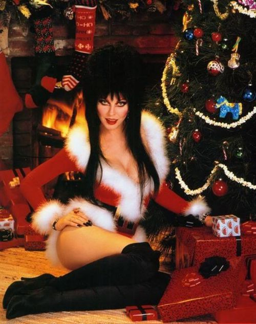 Elvira wishes you a very scary Christmas | Pin Ups | Pinterest ...