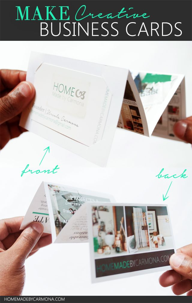 How to Make A Fold-Out Portfolio Business Card | Business cards ...