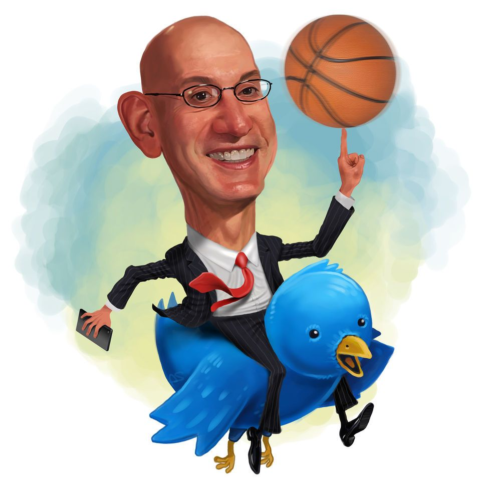 In an interview, NBA commissioner Adam Silver explains how the league has embraced its social-media revolution.