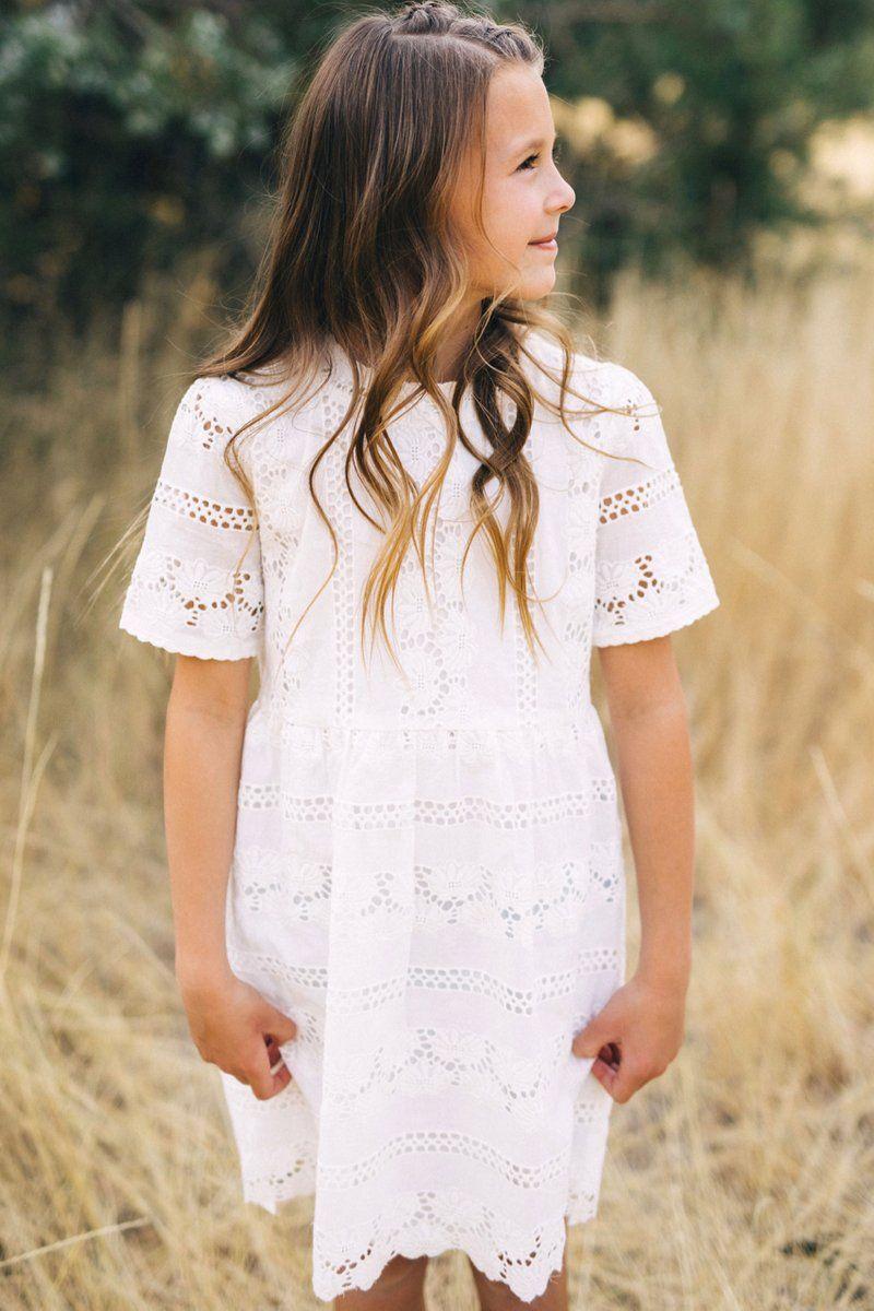 Mini West End Eyelet Dress Roolee Kids Eyelet Dress Eyelet Lace Dress White Eyelet Dress [ 1200 x 800 Pixel ]