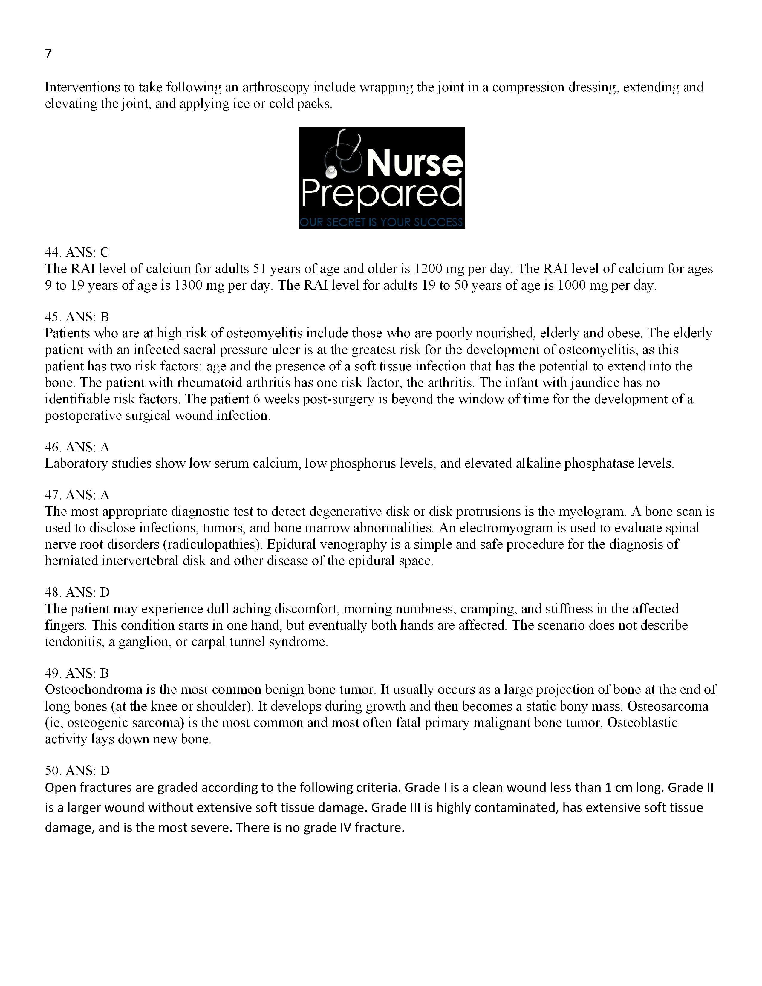 Pathophysiology Exam 2 Answers Pg. 7 Nursing