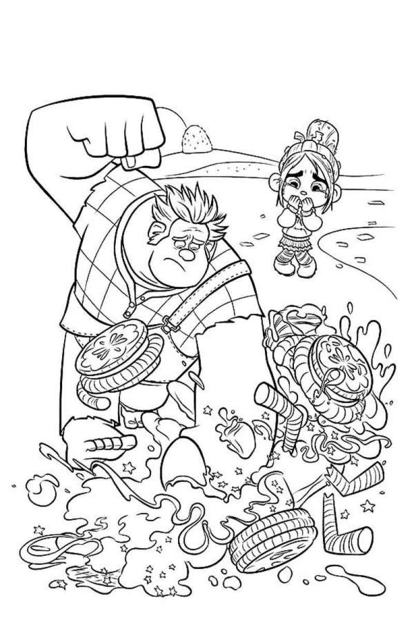 Free Wreck It Ralph Coloring Pages Printable Disegni Da Colorare Disegni Colori
