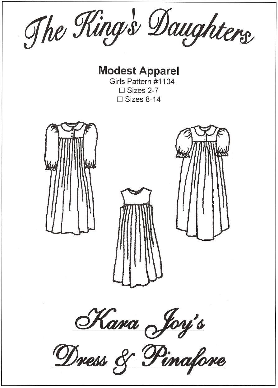 5013c0015337a Girls Kara Joy dress and pinafore set Sizes 2-7 Girls Patterns ~ Modest    Simple Sewing Patterns by The King s Daughters