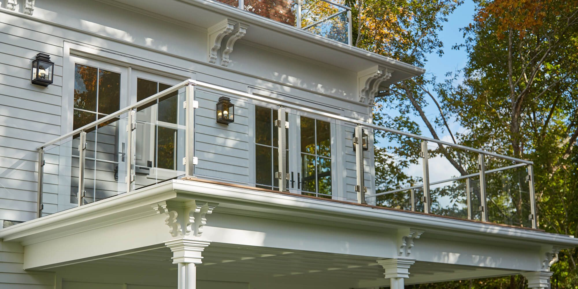 residential exterior glass railing systems - Google Search ...