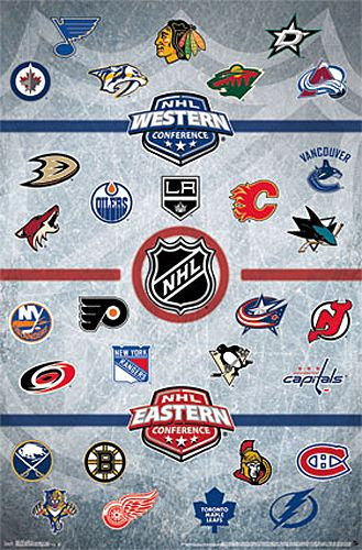 The Nhl Hockey Universe All 31 Team Logos Official Poster Trends International 2018 Nhl Logos Hockey Posters Nhl