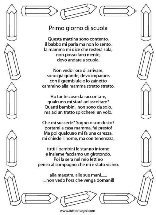 Poesia Primo Giorno Scuola 2 Didattica