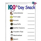 100th Day Snack