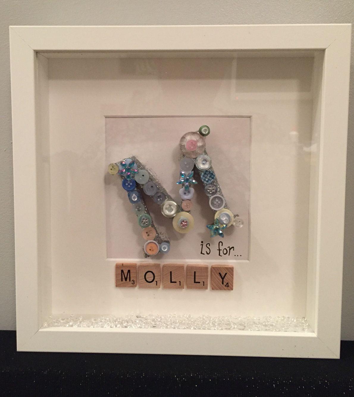 Initial frame | Scrabble frames | Pinterest | Initials, Scrabble ...