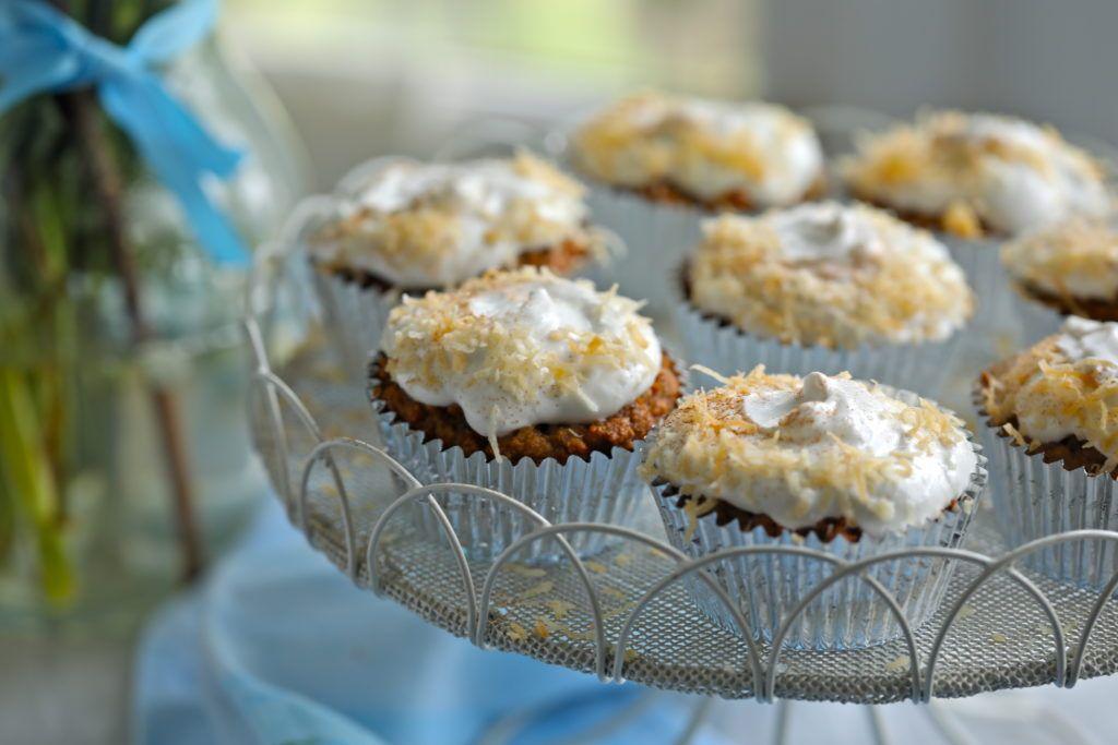 GlutenFree Carrot Cake Cupcakes Recipe (Refined Sugar