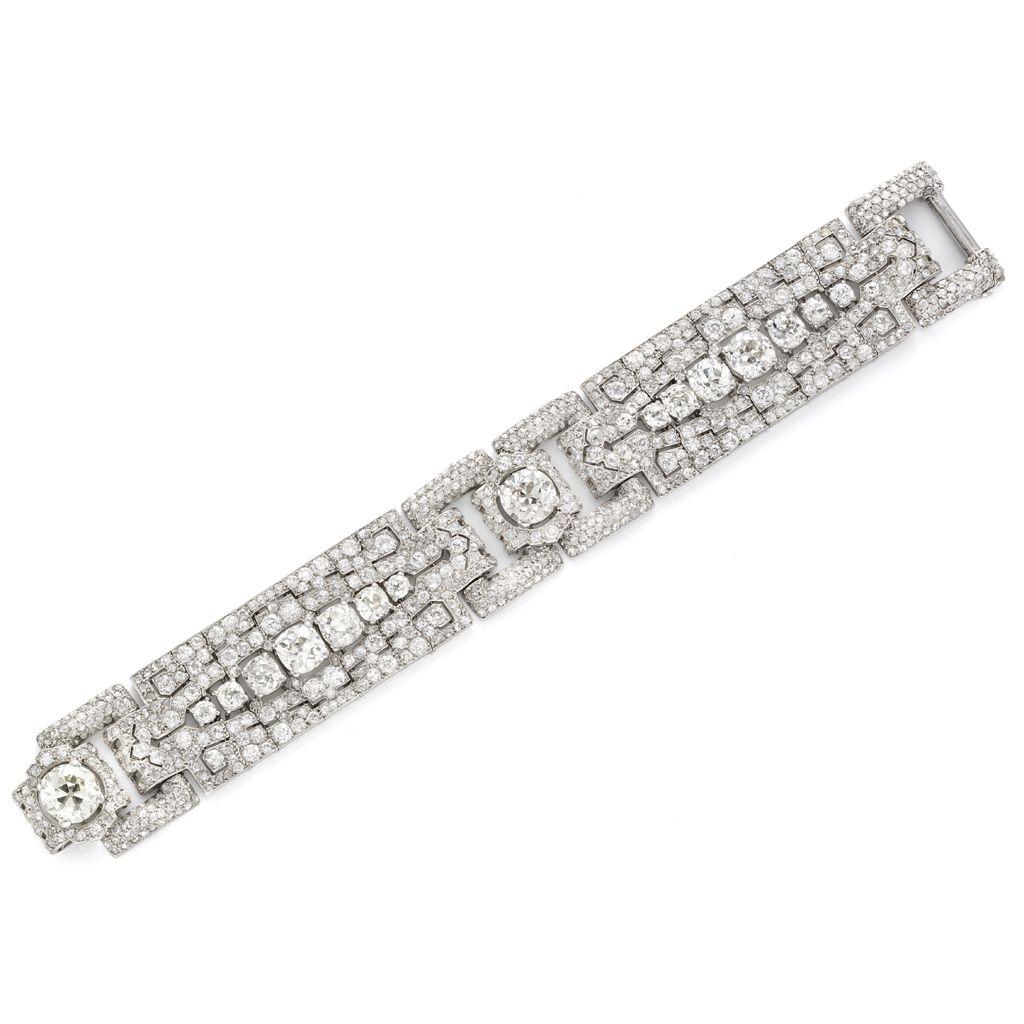 Art Deco Diamond Bracelet By Cartier Circa 1925