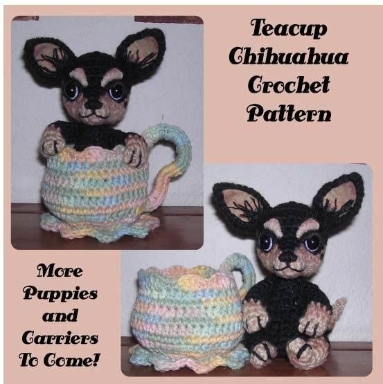 Teacup Chihuahua Dog Digital Pdf Crochet Pattern By