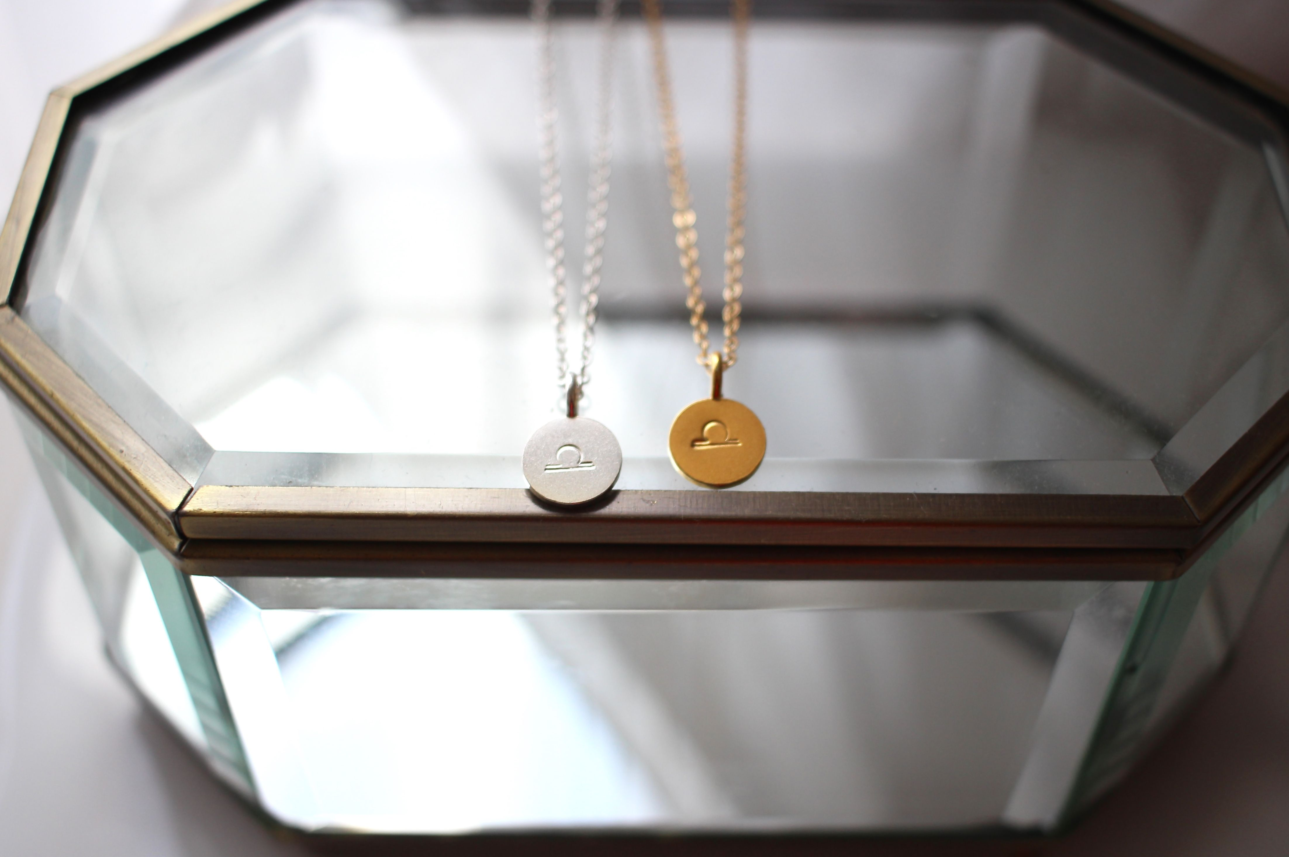 Libra star sign necklaces dainty delicate u symbolic an ideal