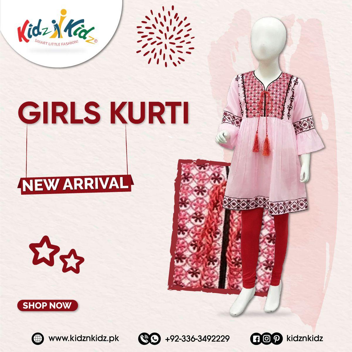 Girls Kurti, New Arrival, Shop Now #girlskurti #girls #kurti #trousers #clothingbrand #kids #baby #kidsfahions #onlineshop #shopping #onlinestore #shoppingonline #onlineshopping