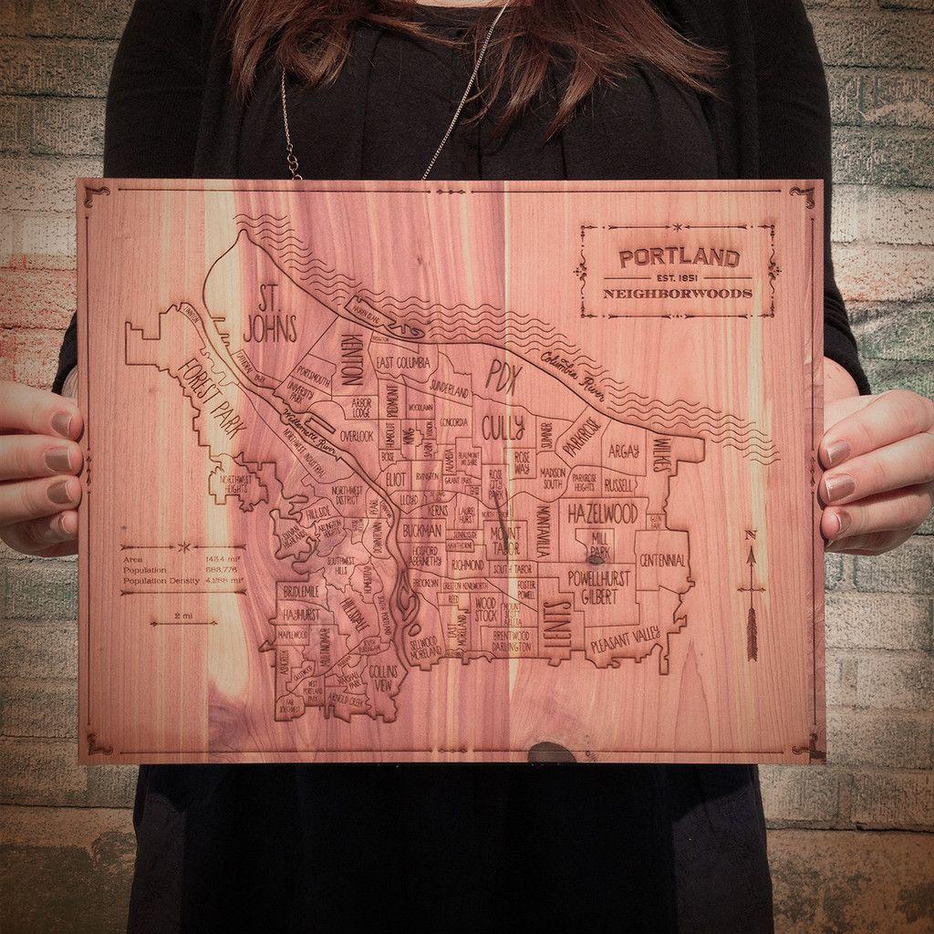 Such a cool portland map i heart oregon pinterest portland map