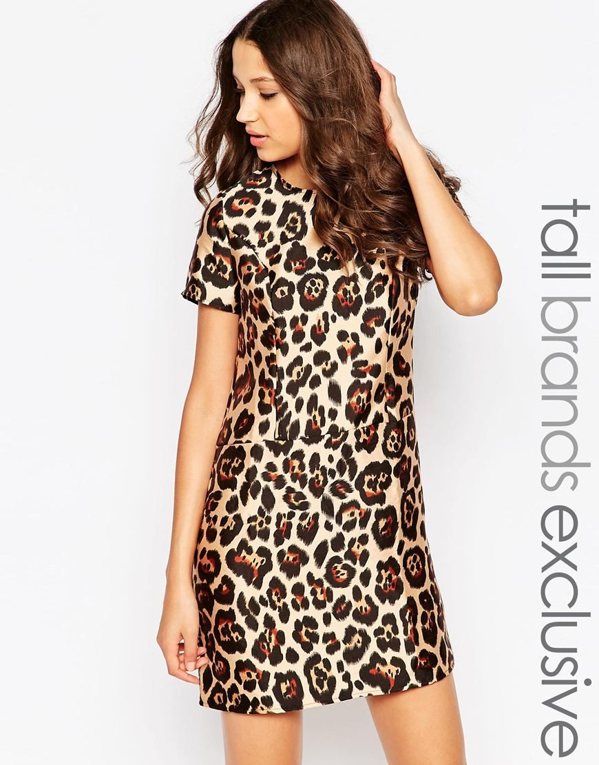 4fea36e514 Glamorous Tall Animal Print Shift Dress