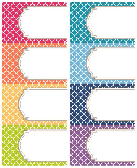 Free Editable Quatrefoil Labels – Name Labels Templates Free