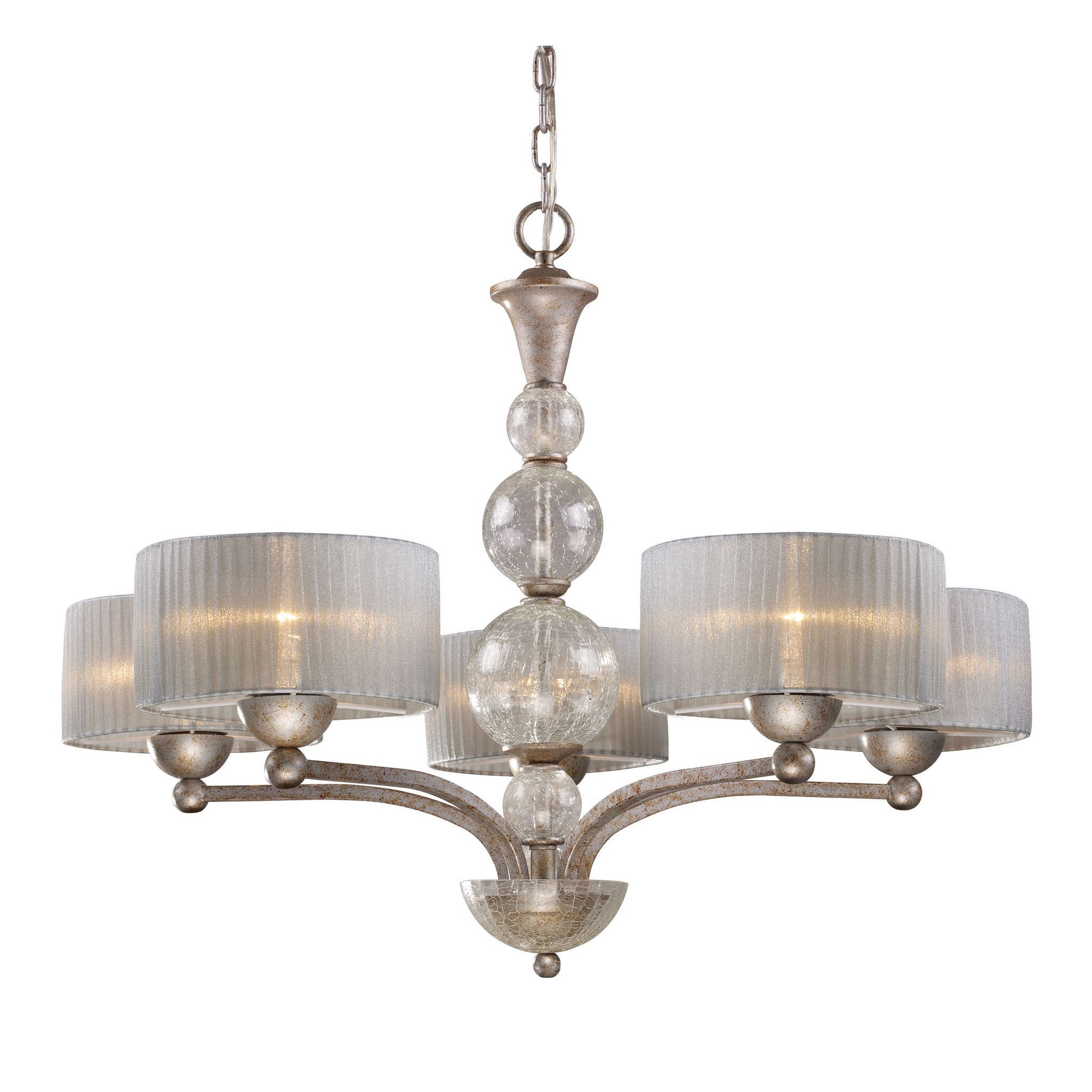alexis 5 light chandelier in antique silver products pinterest