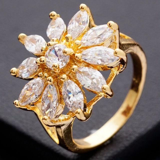 Aliexpress.com : Buy Pretty Flower Design Jewelry 24K Yellow Gold ...