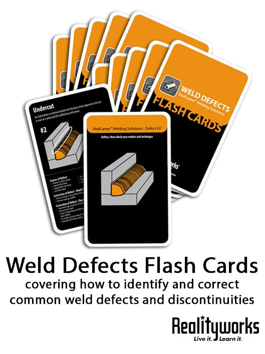 Available in sets of 10 These Weld Defects Flash Cards were - new blueprint book for welders