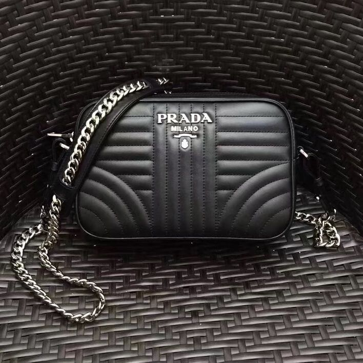 963b2aea1 Prada Diagramme Leather Camera Cross-body Bag 1BH083 Black 2017 ...
