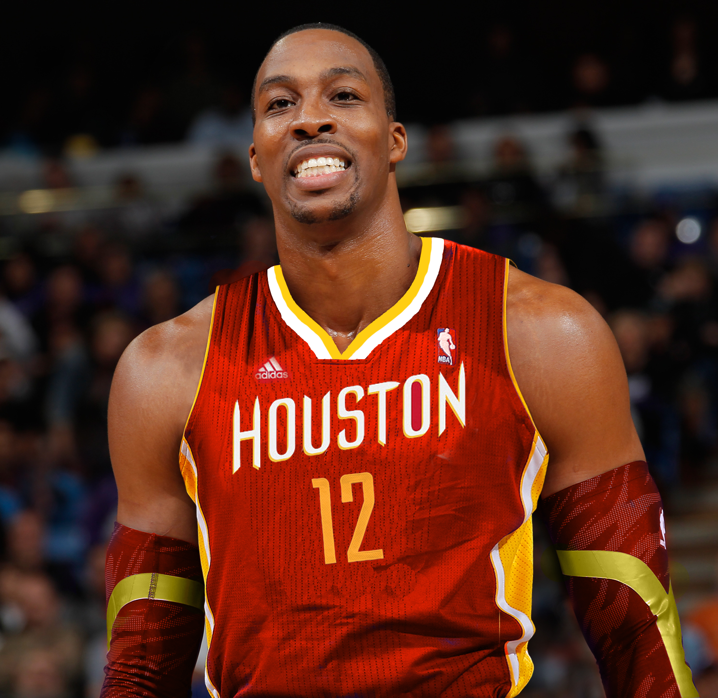 Dwight Howard Rockets1 Dwight Howard Decides To Sign To Houston Rockets Contract Still Being Basketball Players Dwight Howard Basketball Players Nba