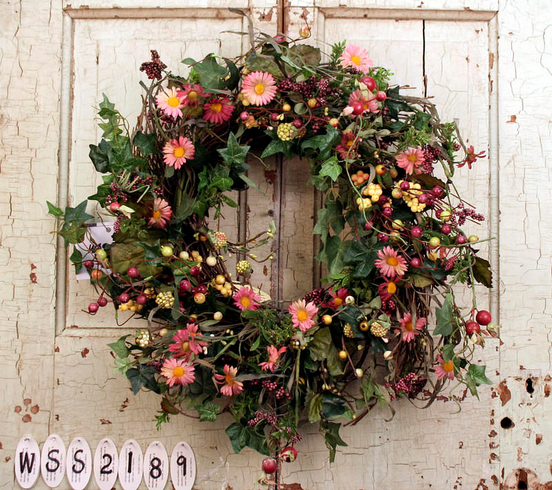 Aster and Dazzle Berry Door Wreath & Aster and Dazzle Berry Door Wreath | Mother\u0027s Day Wreaths ...
