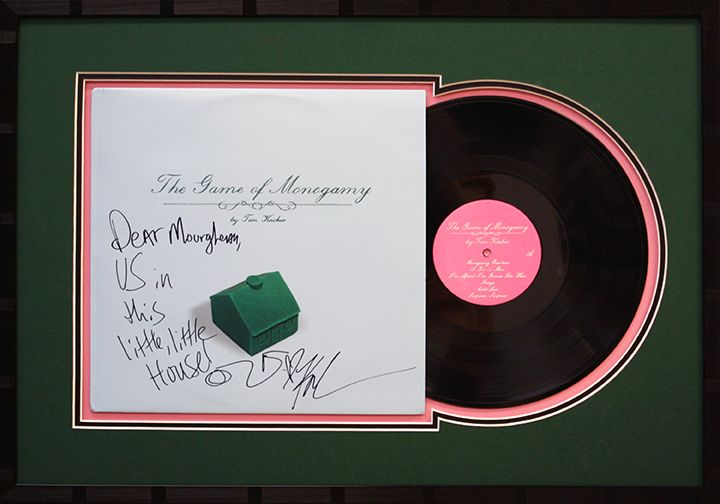 Custom Made Frame For A Signed Record Framed Records Custom