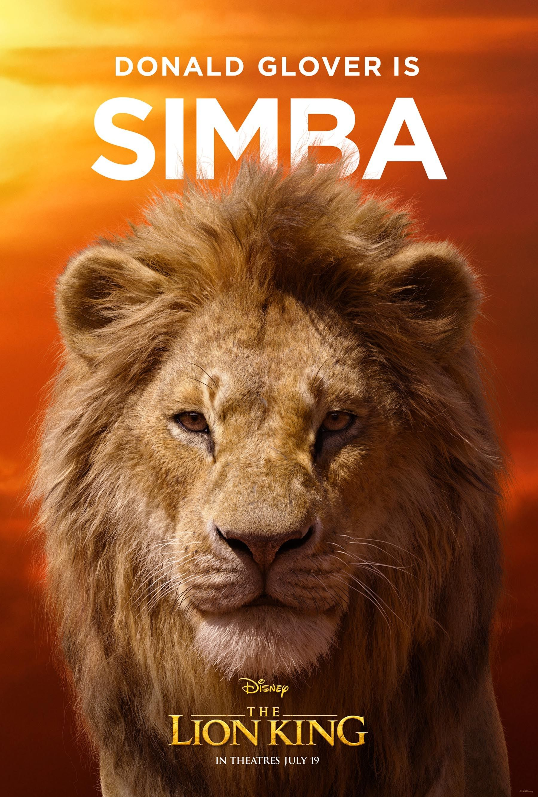 The Lion King Rises See All The Character Posters For The Live Action Film Lion King Movie The Lion King Characters Lion King Poster