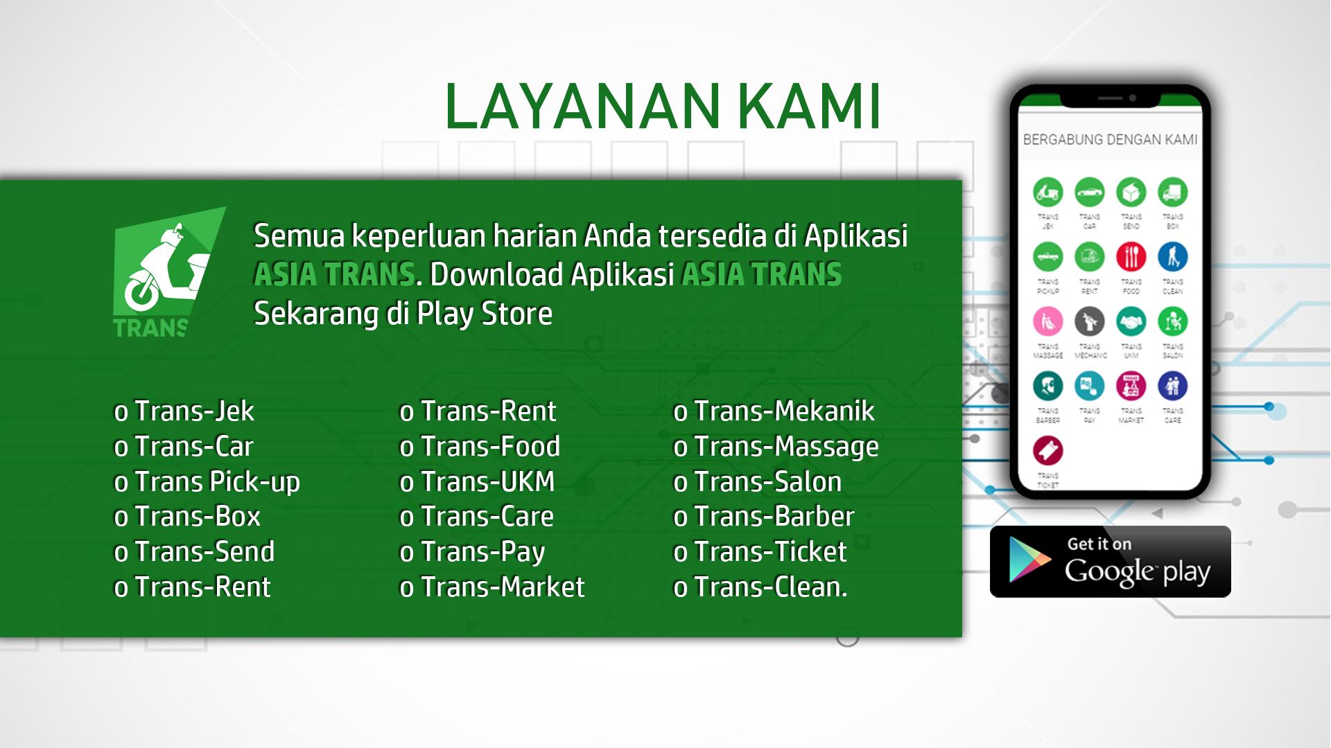 Pin Oleh Ade Ruhiat Di Trans Driver Website Aplikasi Pelayan