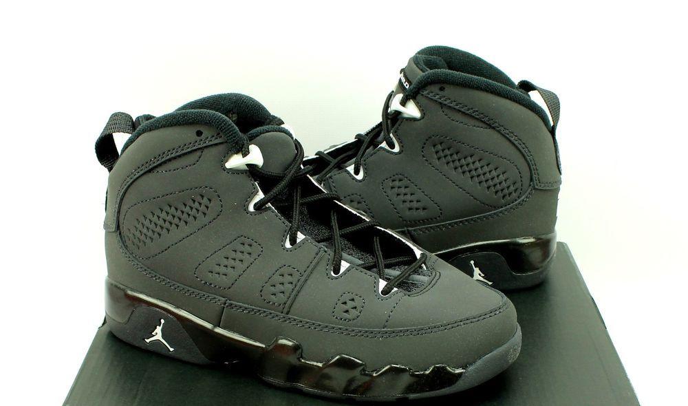 05b23219f644 Nike Jordan 9 Retro BP Anthracite Black Basketball Shoes - Youth Boys 13  13C  Nike
