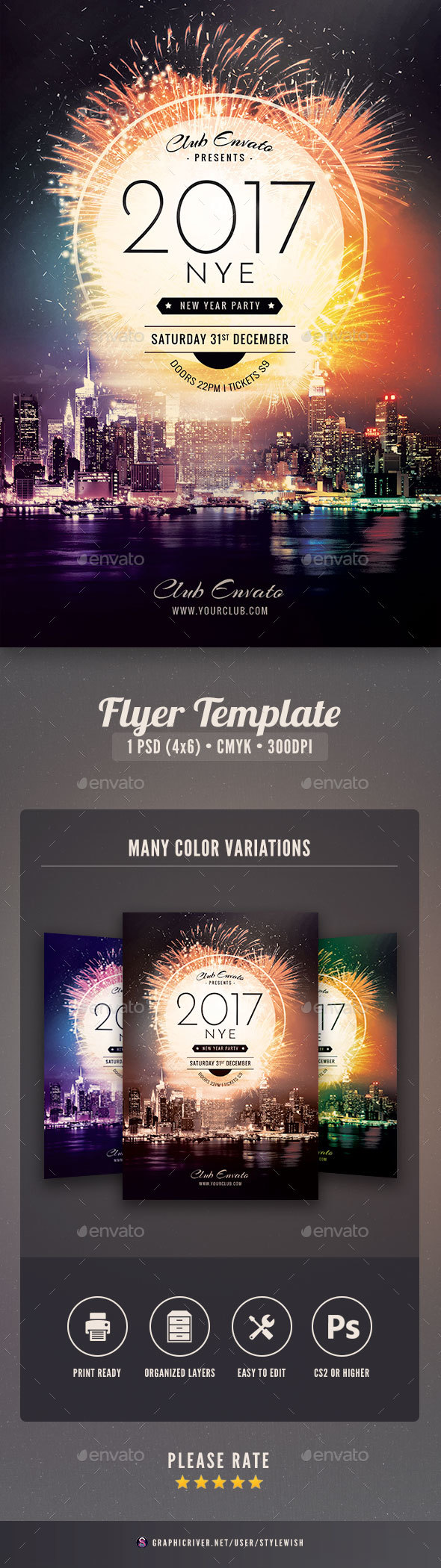 New Year Flyer  Psd Templates Flyer Template And Graphics